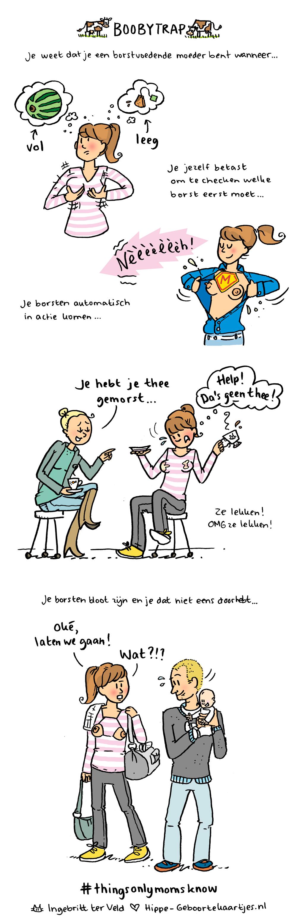 Boobytrap - Deze cartoons beschrijven het moederschap