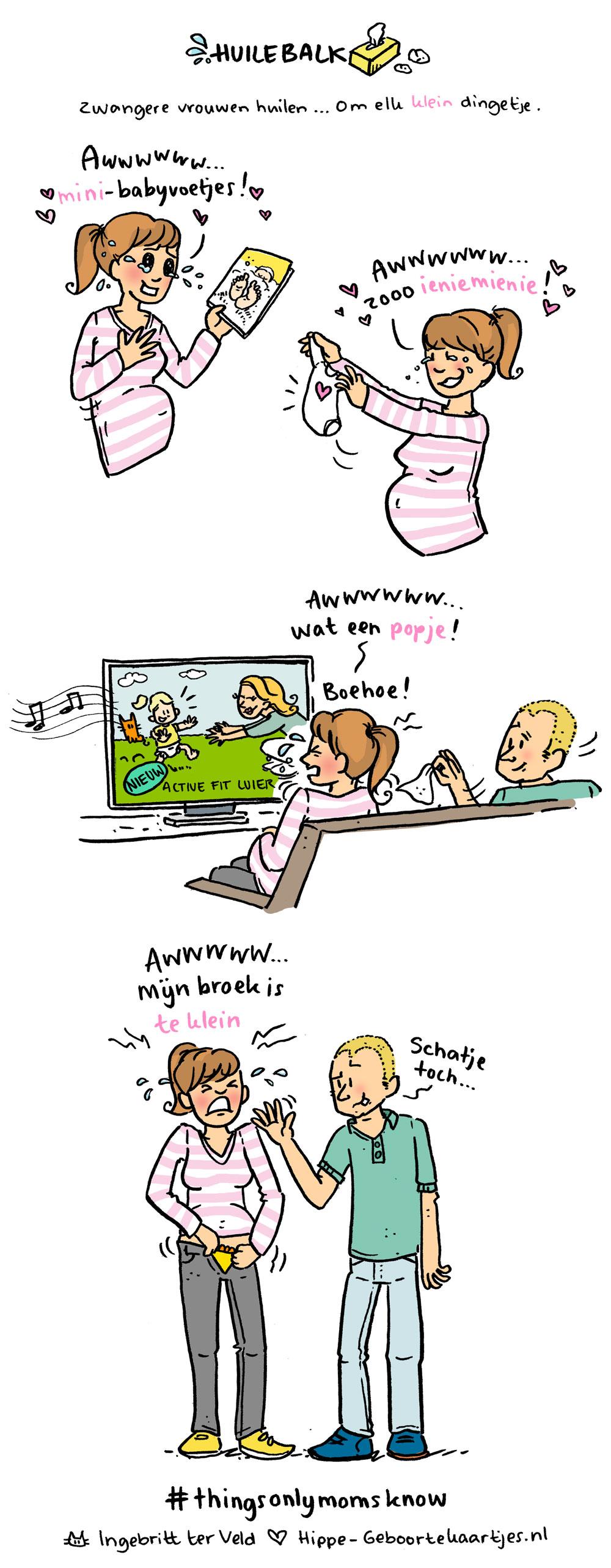 Huilebalk - Deze cartoons beschrijven het moederschap
