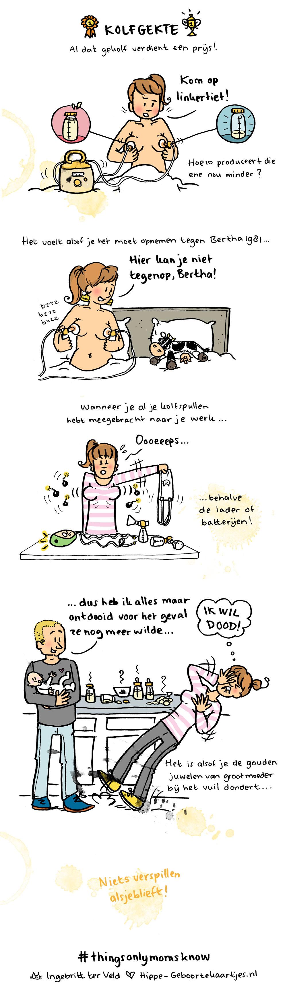 Kolfgekte - Deze cartoons beschrijven het moederschap