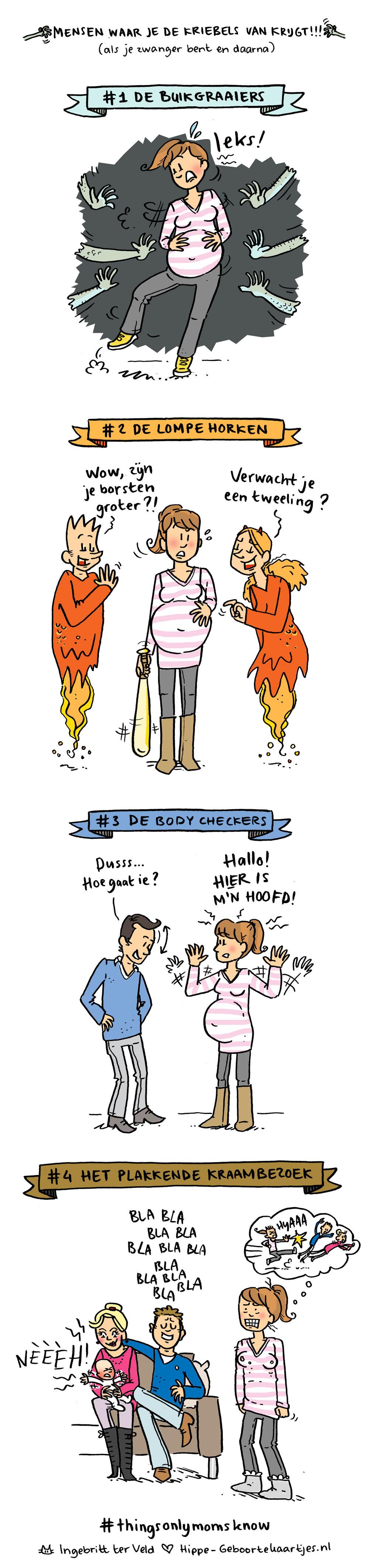 Kriebels - Deze cartoons beschrijven het moederschap
