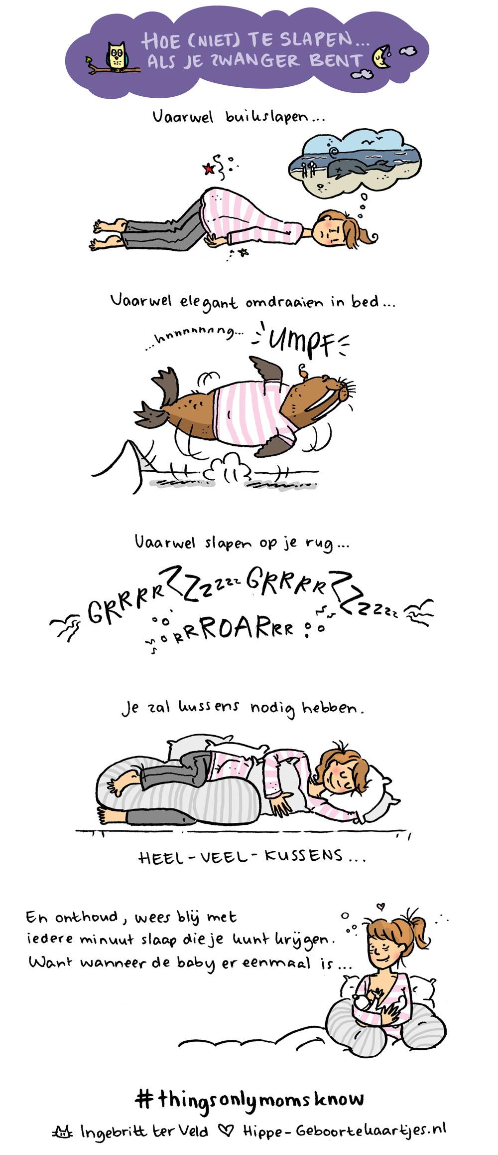 Slapen - Deze cartoons beschrijven het moederschap