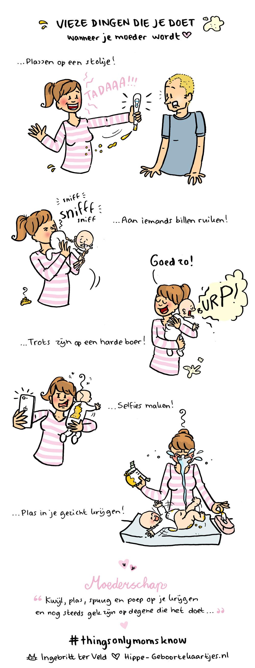 Vies - Deze cartoons beschrijven het moederschap