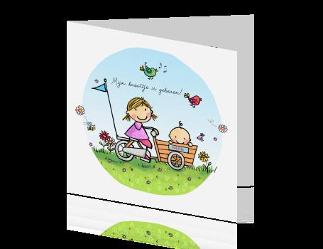 Top Origineel geboortekaartje voor grote zus en kleine broer @QO92